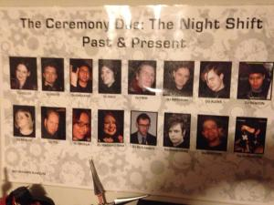 Between 1997 and 2008, there were a total of 17 DJs in The Night Shift