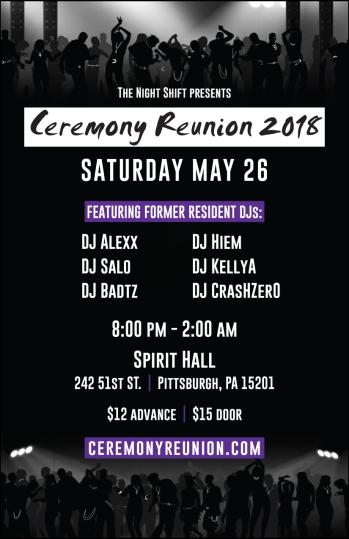 2018 Ceremony Reunion - front